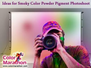 Ideas for Smoky Color Powder Pigment Photoshoot