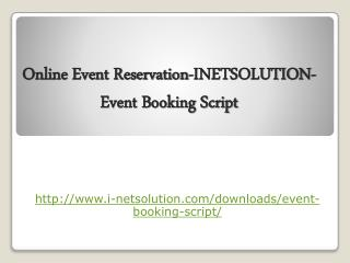 Online Event Reservation-INETSOLUTION- Event Booking Script