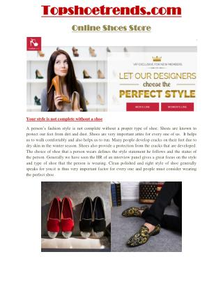 Welcome to Topshoetrends!  We have highly experienced stylists for making  shoe and shoe rack. Select your shoe or shoe