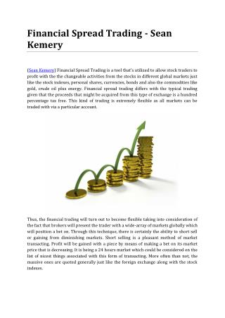 Financial Spread Trading - Sean Kemery