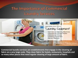 The Importance of Commercial Laundry Services
