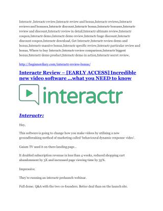 Interactr REVIEW - DEMO of Interactr