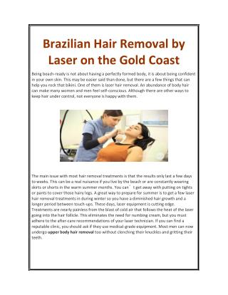 Brazilian Hair Removal by Laser on the Gold Coast