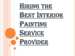 Picking the Right Painting Service