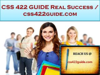 CSS 422 GUIDE Real Success / css422guide.com