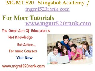 MGMT 520   Slingshot Academy  / mgmt520rank.com
