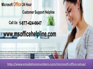 >Microsoft office setup 1-877-424-6647</title>