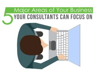 5 Major Areas of Your Business Your Consultants Can Focus On