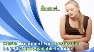 Herbal Treatment For Constipation Relief Is Now Available In India