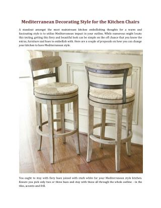 Mediterranean Decorating Style for the Kitchen Chairs