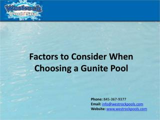 Factors to Consider When Choosing a Gunite Pool