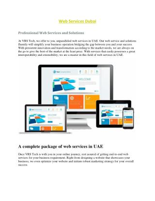 Web Services Dubai - Professional Web Services - Hire Web Services