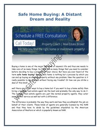 Safe Home Buying: A Distant Dream and Reality