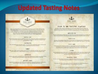 Updated Tasting Notes