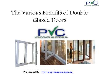 Double Glazed Doors Benefits