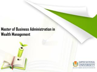 MBA in Wealth Management