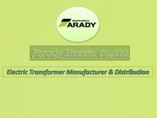 Electric transformer manufacturer & distribution