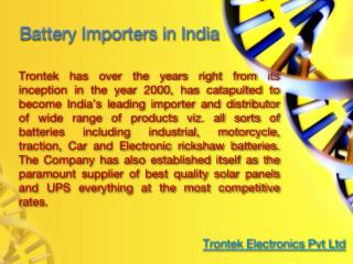 Battery Importers in india