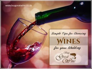 Tips to Help Choose Wedding Wines
