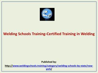 Welding Schools Training-Certified Training in Welding