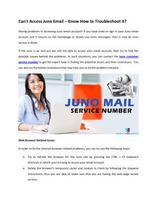 Can't Access Juno Email – Know How to Troubleshoot it?