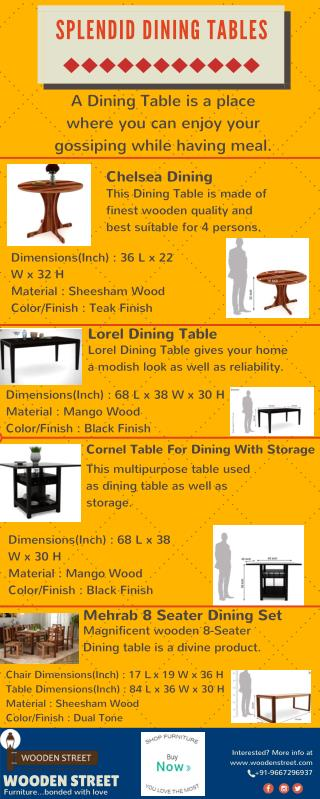 Wooden Dining Tables for your home @ Wooden Street on Discount