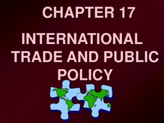 INTERNATIONAL TRADE AND PUBLIC POLICY