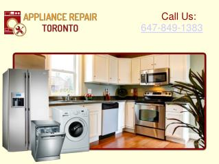 Appliance Repair Services: Home Appliances Repair Toronto and GTA