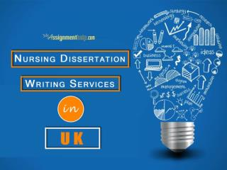 Nursing dissertation Assignment Help Online-Myassignmenthelp.com