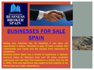 businesses for sale Spain