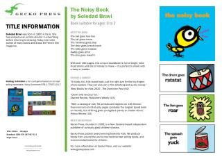 Noisy Book by Soledad Bravi