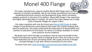 Monel 400 Flange