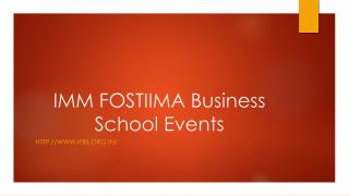 IMM FOSTIIMA Business School Events