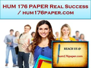 HUM 176 PAPER Real Success / hum176paper.com