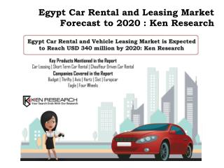Rental Car Industry Egypt,Spot Rental Egypt Market, Chauffer Driven Car Rental ,