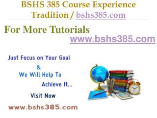 BSHS 385 Slingshot Academy / bshs385.com