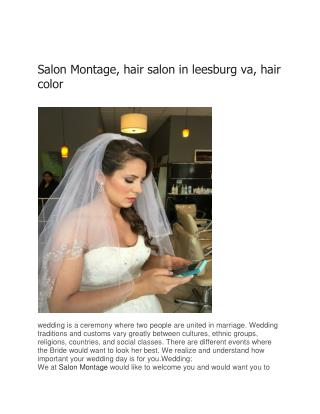 Salon Montage, hair salon in leesburg va, hair color