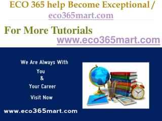 ECO 365 help Become Exceptional  / eco365mart.com