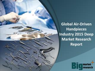 Global Air-Driven Handpieces Industry 2015 Deep Market Research Report