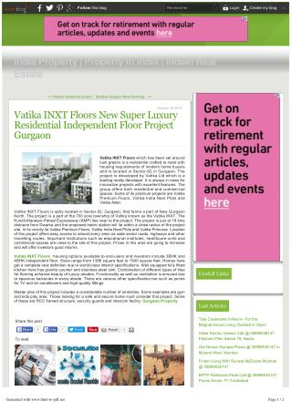 Vatika INXT Floors Price