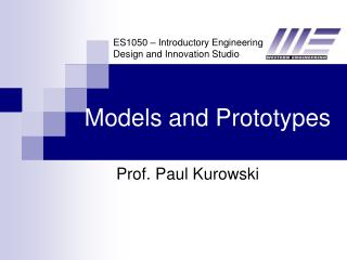 Models and Prototypes