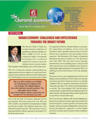 INDIAN ECONOMY: CHALLENGES AND EXPECTATIONS