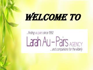 Au Pair Agency in Wimbledom, Crawley and Knightsbridge - Larah Au-Pairs, UK