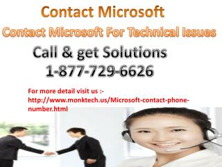 Problem to Microsoft Window related Call Microsoft Contact Number 1-877-729-6626
