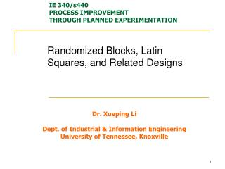 Randomized Blocks, Latin Squares, and Related Designs