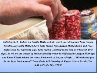 Choose Your Online Matka Game Provider at Satta King143