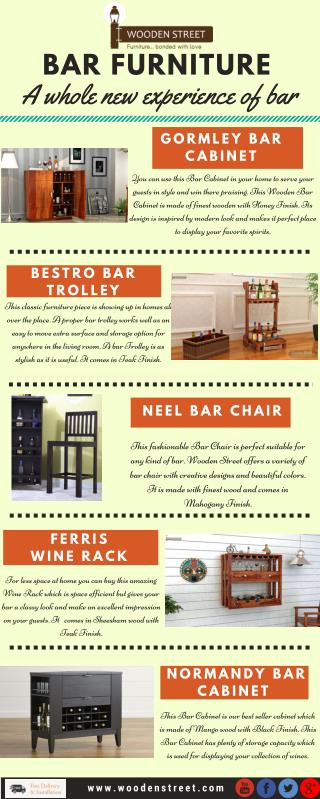 Buy Bar Furniture and sets in best price available online