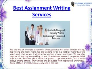 best assignments writing solutions