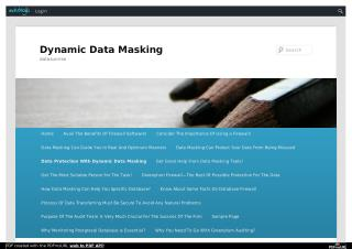 Data Protection With Dynamic Data Masking