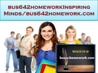 bus642homework Real Success/bus642homework.com
